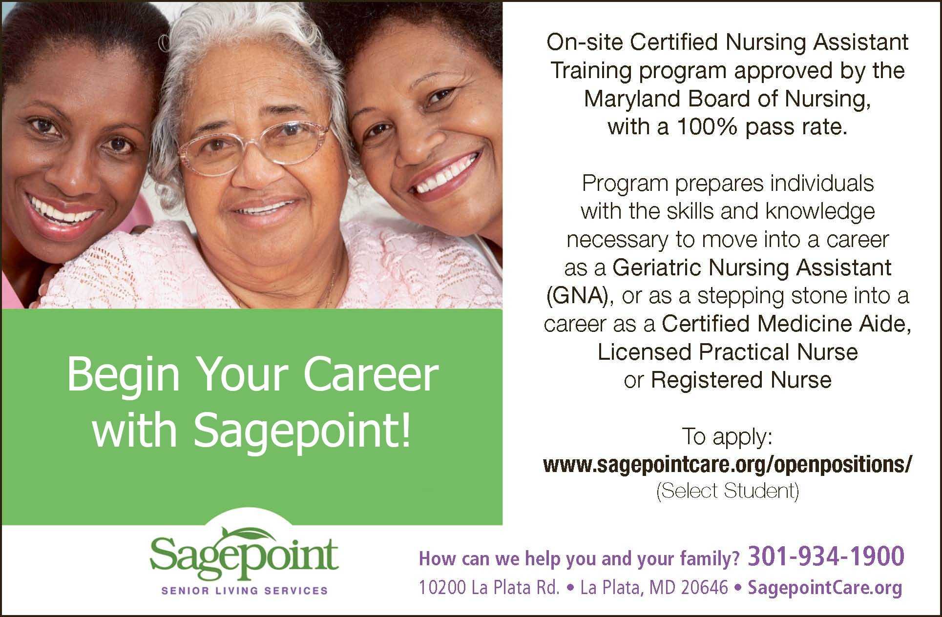employment work us sagepoint senior living services gna class